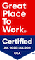 Great Place to Work 2020 Award